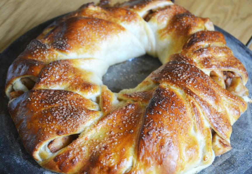 Pecan Apple CroissantWreath